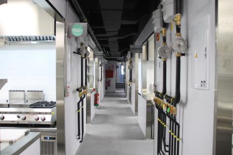 Imagen de las cocinas del nuevo centro de Cuyna en Madrid
