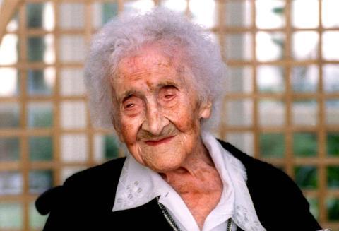 Jeanne Calment, la mujer más longeva del mundo.