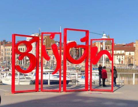 Letras de Gijón, Asturias.