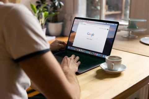 El logo de Google en un ordenador