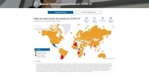 Captura de la web Mapa Covid de Intermundial