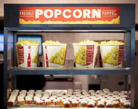 Palomitas en la reapertura de los cines AMC en marzo de 2021