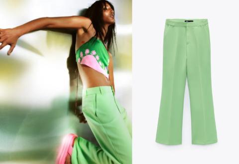 Pantalones andróginos en colores intensos