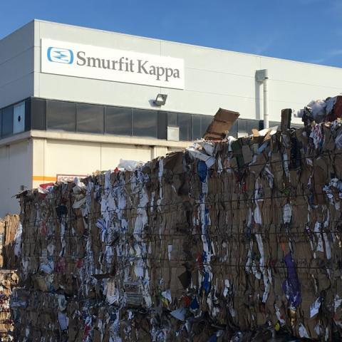 Planta de reciclaje de Smurfit Kappa en Málaga.
