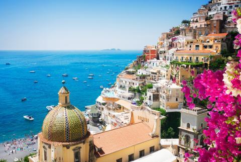 Imagen del pueblo de Positano, en la costa amalfitana, en el sur de Italia.