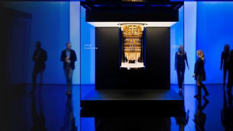 Un procesador cuántico de IBM.