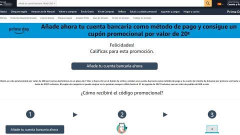 Promoción 20 euros de Amazon