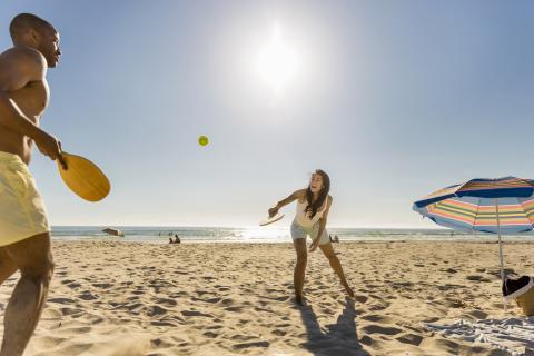 raqueta playa sol
