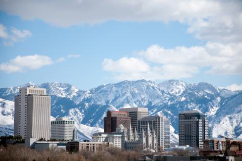 Ciudad de Salt Lake, en Utah, EEUU.