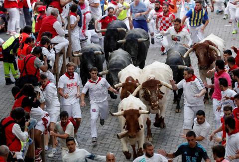 san fermín vacas pueblos España