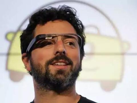 Sergey Brin con las Google Glass en 2012.
