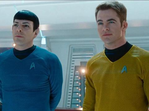 Zachary Quinto y Chris Pine en 'Star Trek'.