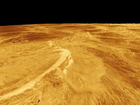 La superficie de Venus vista el 16 de septiembre de 2010.