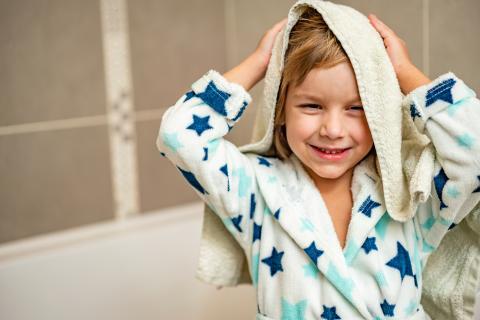 El 'velour' se suele utilizar para las toallas de los niños.
