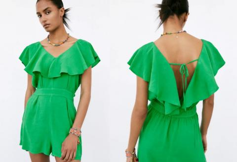 Volantes y colores flúor para la nueva colección de Zara.
