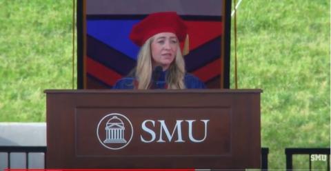 Whitney Wolfe imparte una conferencia en la Universidad Metodista del Sur el pasado mes de mayo.