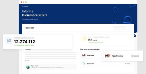 Apariencia de la plataforma de scouting de startups Scoutflow.