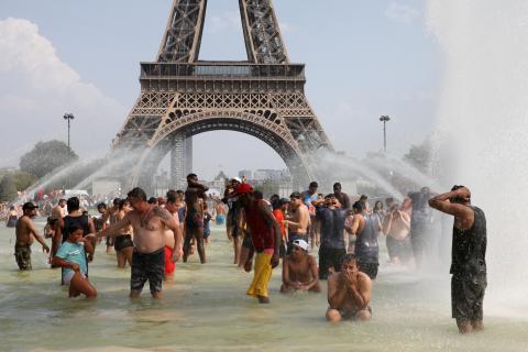 París durante una intensa ola de calor en 2019.