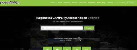 Portada principal de la web de 'CamperRuteros'.