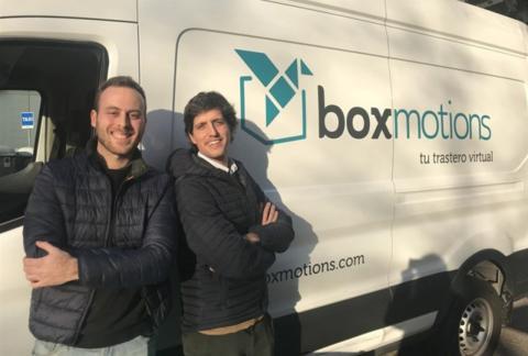 Los cofundadores de Boxmotions, Álex Corbacho y Pol Karaso.