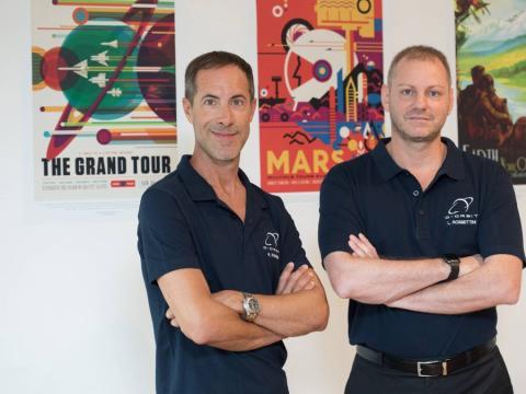 Los fundadores de D-Orbit, Luca Rossettini, CEO, y Renato Panesi, CCO.