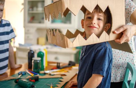 disfraces de cartón para niños
