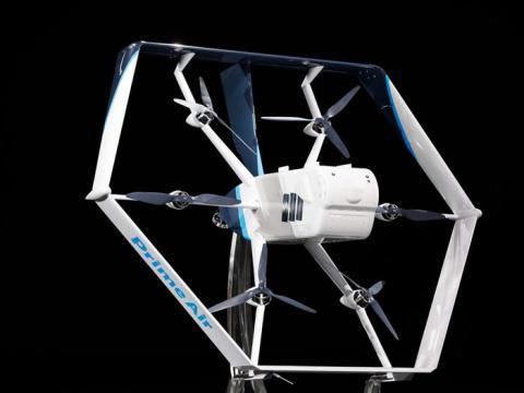Un dron de Amazon Prime Air