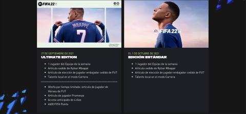 Ediciones FIFA 22