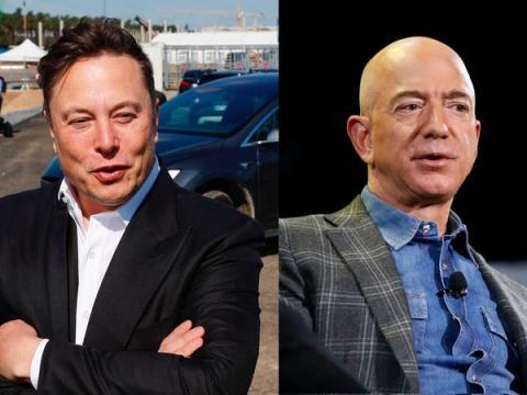 Elon Musk y Jeff Bezos