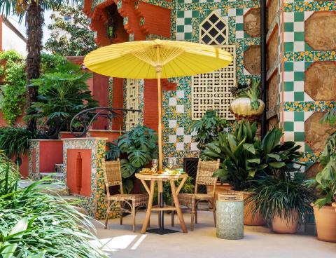 Jardín privado de Casa Vicens.