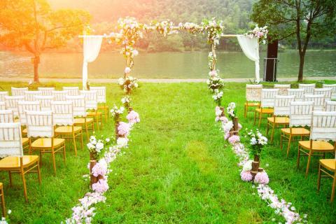Patio de boda.
