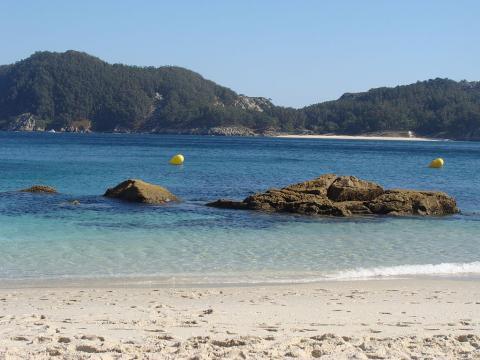 Playa de Nuestra Señora en las Islas Cíes de Vigo.