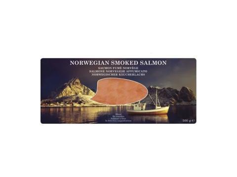 Salmón ahumado noruego.