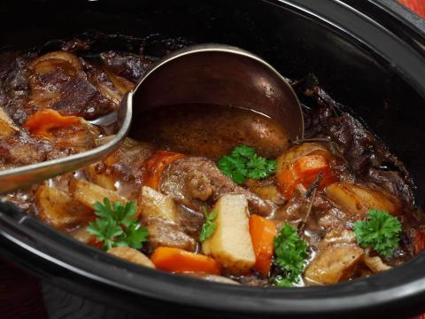 Los cortes de carne suaves pueden quedarse blandos en la olla.