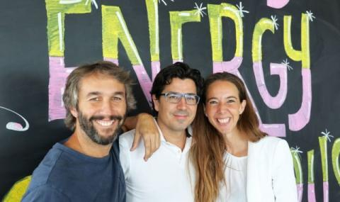 Los socios fundadores de Holaluz, Oriol Vila,  Ferran Nogué y Carlota Pi.