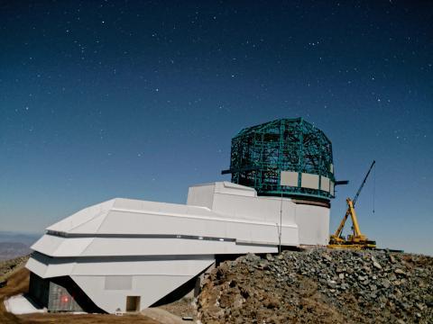 Edificio del Gran Telescopio de Levantamiento Sinóptico en el Observatorio Vera Rubin en Cerro Pachón (Chile), en septiembre de 2019,