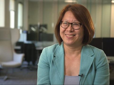 Huijuan Lee, vicepresidenta de desarrollo analítico de Moderna.