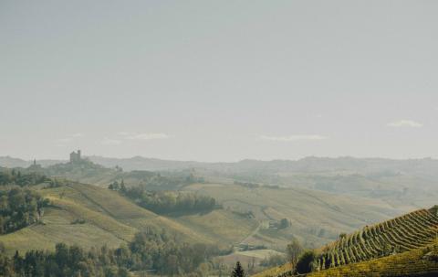 Vistas desde el hotel Casa di Langa.
