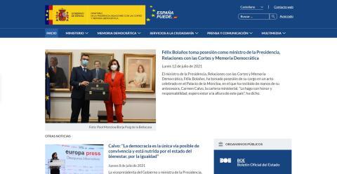Web de presidencia