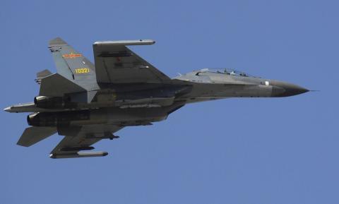 Un Su-27 de la Fuerza Aérea China en 2007.