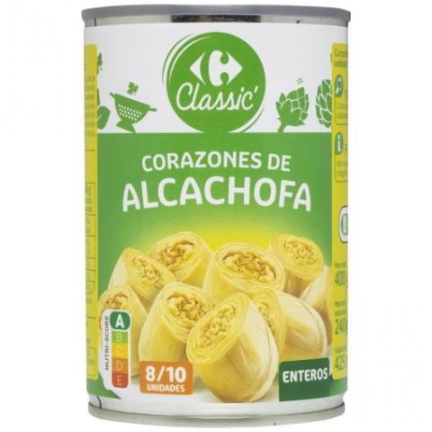 Alcachofas Carrefour listas para comer