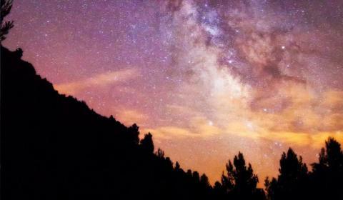 Cielo estrellado desde la comarca del Turia.