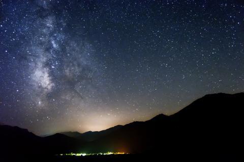 Noche estrellada en la Sierra de Cazorla, Jaén.