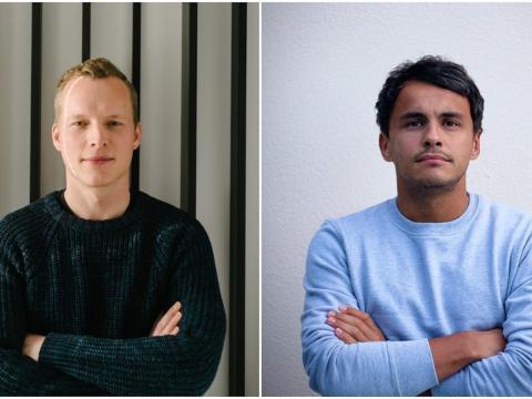 Los cofundadores de Finmid, Max Schertel y Alexander Talkanitsa.