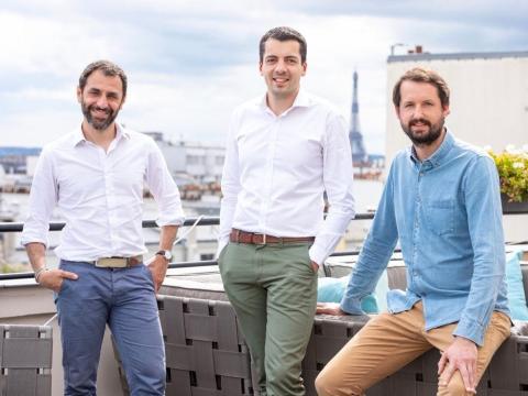 Los cofundadores de Swan, Nicolas Benady, Nicolas Saison y Mathieu Breton.