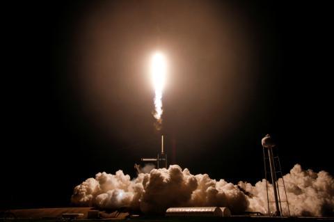 Lanzamiento del cohete Falcon 9, de SpaceX, el 23 de abril de 2021.