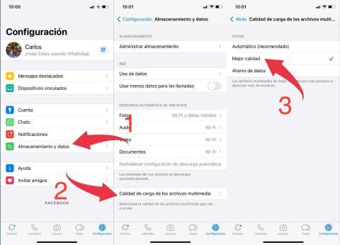 Cómo enviar fotos o vídeos en la máxima calidad posible en WhatsApp