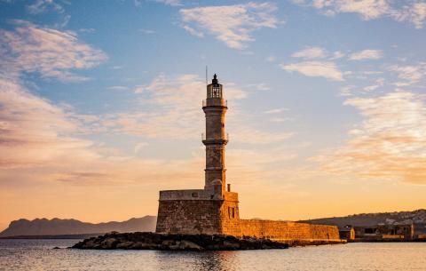 Faro de Chania, Creta.