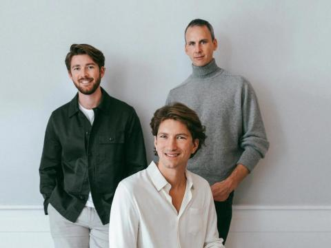 Los fundadores de Hedvig, Fredrik Fors, Lucas Carlsén y John Ardelius.