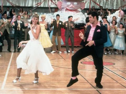 Olivia Newton-John y John Travolta en 'Grease'.